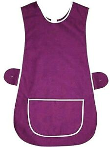 Top Quality Ladies Home / Work Tabard (Tabbard) Apron with  Pocket, purple