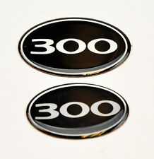 "Chrysler 300 300C 2005-2010 ""300"" Front & Rear Grill Trunk Badge Badges"