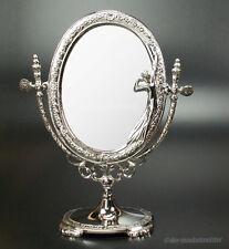 Jugendstil Kippspiegel Schminkspiegel Tischspiegel Makeup Spiegel kippbar Silber