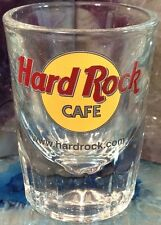 "Hard Rock Cafe www.hardrock.com 3"" SHOT GLASS Classic HRC Logo SHOOTER Thick!"