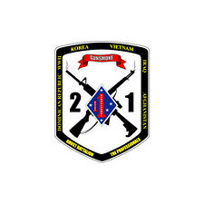 2nd Battalion, 1st Marines Div (2/1) 3.5 inch USMC The Professionals decal