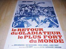 LE RETOUR DU GLADIATEUR LE PLUS FORT DU MONDE !  peplum affiche cinema  ¨¨