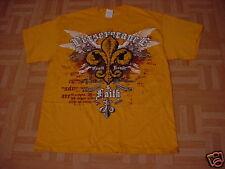 Men's Gold Perseverance & Faith T-Shirt Size Small