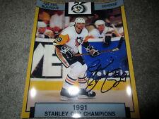 PHIL BOURQUE Pittsburgh Penguins signed Autographed 8x10 photo COA