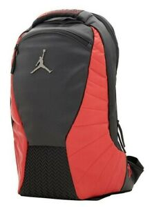 Nike Air Jordan Jumpman Retro 12 Laptop Backpack Black/Gym Red 9A1773-KR5 NWT