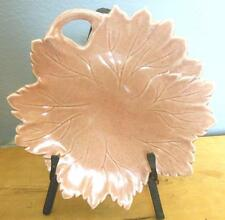 Vintage Russel Wright Steubenville  Woodfield   Leaf Plate Salmon Pink
