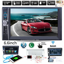 6.6in. HD Double 2 DIN Car Stereo Bluetooth Touch screen MP3 MP5 Player FM Radio