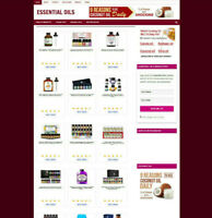 ESSENTIAL OILS UK WEBSITE WITH NEW DOMAIN + 1 YEARS HOSTING - EASY BUSINESS