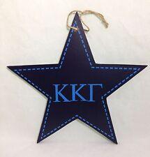 "Kappa Kappa Gamma Star Decorative Wall Plaque Sorority College Dorm Decor 9-1/2"""