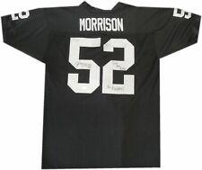 Kirk Morrison Signed Auto Football Jersey Oakland GO Raiders Just Win Baby JSA