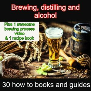 Brewing Beer/alcohol collection- classic books/ Video/ Recipes - how to, guides
