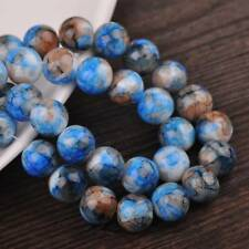 50pcs Multicolor Coated Round Opaque Glass Loose Spacer Beads 6mm/8mm/10mm/12mm