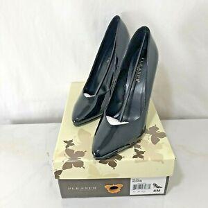 Pleaser Seduce 420 Black Patent High Heel Pumps Size 8 Shoes