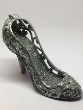 Silver Glitter  Cinderella Shoe Hanging Christmas Decoration Tree Decor Sparkly