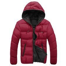 Winter Men's Slim Casual Warm Jacket Hooded Thick Coat Parka Overcoat Hoodie US