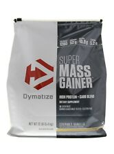 DYMATIZE SUPER MASS GAINER 12LB DISCOUNTED NEW FREE SHIPPING MUSCLE MASS GROWTH