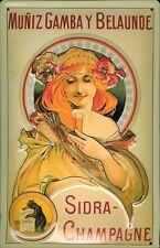 Sidra Champagne Blechschild Schild 3D geprägt gewölbt Tin Sign 20 x 30 cm