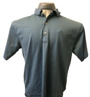 Peter Millar Polo Shirt Short Sleeve Blue Striped Mens Large