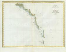 1798 Antique Map NORTH WEST COAST AMERICA Prince Rupert Alaska Elias Perouse (M6