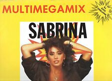 "SABRINA SALERNO disco MIX 12"" 45 giri MULTIMEGAMIX stampa SPAGNOLA 1988"