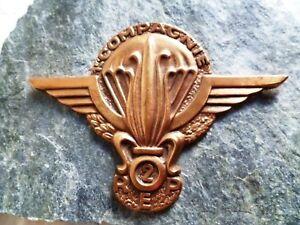 Plaque sur pierre 2° REP LEGION ETRANGERE PARACHUTISTE 1° CIE ORIGINAL 1970s FFL