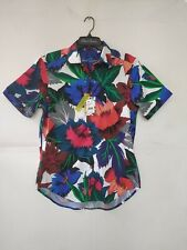 Robert Graham Men's Floral Print Short Sleeves Shirt FREE WORLDWIDE SHIPPING