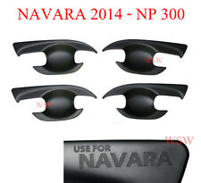 FOR NISSAN Navara NP300 MATT Black Door Handle Bowl Cover Protector 2015 2016
