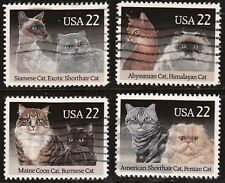 Scott #2372-75 Used Set of 4, Cats
