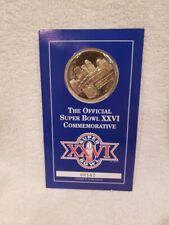 VINTAGE 1992 Super Bowl XXVI Commemorative Coin, Washington Redskins, VERY NICE!