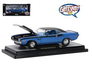 1/24 M2 Machines 1970 Dodge Challenger T/A Diecast Model Car Blue 40300-85A