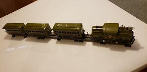 Lionel 252 Pre War Set Engine 2 Pullmans Observation O Gauge 20's Olive Green