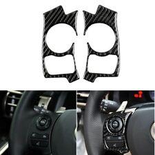 Carbon Fiber Steering Wheel Button Frame Trim For Lexus IS250 NX200 /200t /300h