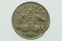 1962 Sixpence Variety Error Bitten Edge in Very Fine Condition