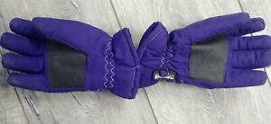 Gloves Girls Winter Gloves Size L/XL Warm Snow Gloves Purple (Ages 8-11ish)