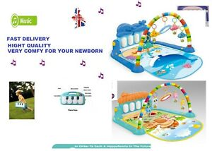 3 in 1 Baby Playmat Kick Lay Play Piano Infant Toddler Fitness Gym/Arch Mat UK