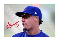 More details for javier baez chicago cubs a4 reproduction autograph poster with choice of frame