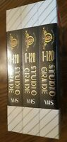 Blank VHS Tapes MGM Studio Grade T-120 Video Cassette Lot Of Sealed 3 Pack NEW