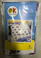Wildkin Olive Kids Planes Trains Trucks Standard Pillowcase Cotton
