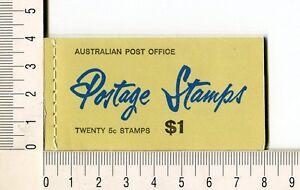 41133) Australia 1967 MNH QEII 5c (x20) n.414 Booklet Sg B41a -imperf L & R