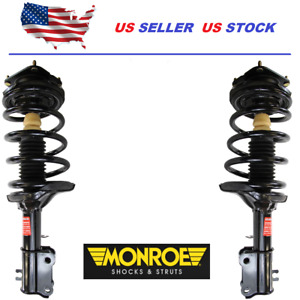 NEW Pair Set of 2 Front Monroe Strut and Coil Spring Kit For Subaru Legacy 10-12