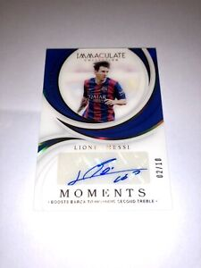 2018-19 Panini Immaculate Soccer Messi Moments Auto /10 Barcelona Argentina