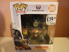 """FUNKO POP! OVERWATCH - ROADHOG 6"""" #309 (HAS STICKER ON FRONT)"""