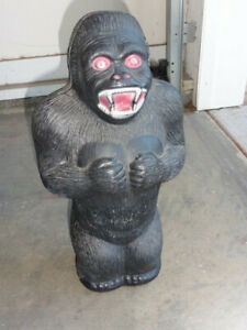 "Vintage Renzi King Kong Character Savings Bank Blow Molded Plastic 16"" Version"