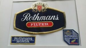 Rothmans Honda Team patches Race Racing F1 Overalls Jacket Garage Car Motorcycle