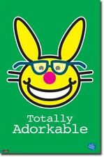 JIM BENTON ITS HAPPY BUNNY TOTALLY ADORKABLE NERD POSTER NEW 22X34 FREE SHIPPING