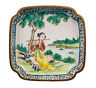 An Antique Chinese Canton Enamel Decorated Landscape Dish