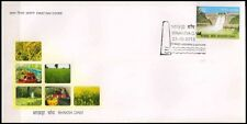 INDIA First Day Cover 22-10-2013, Bhakra Dam, Punjab, Agriculture, Rs. 5-