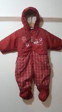Liegelind Red Snowsuit Warm Winter Booties Size 74 UK Size 9-12 Months