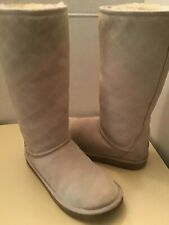 Uggs Australia women sand suede Quilted Diamond 5342 tall boots Size 7