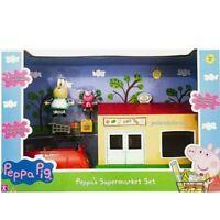Peppa Pig Supermarket Set 3x Figures Car & Shop Playset Toys **FREE DELIVERY**